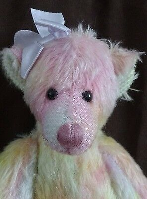 Zoe Pastelsteddy Bear - Russ - Mohair Collection Limited Edition - New With Tags