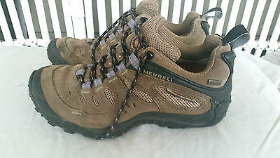 Womens Merrell Hiking Boots Trekking Trail Shoes Size 6.5 Gortex Leather Walking