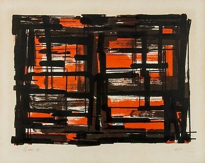 William Gear - signed and numbered lithograph, 1956
