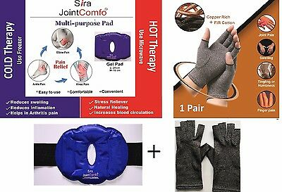 Hot & Cold Heating Knee Pad & Copper Compression Hand Gloves.COMBO Off.