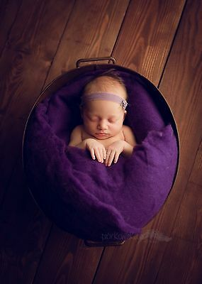Uk Wool Fluff Poser Layer Photo Photography prop Newborn Purple