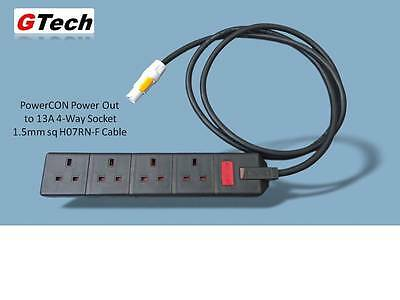 Neutrik PowerCON to 4-Way Adaptor- 1m to 10m x 1.5mm H07RN-F Cable - EVENT/STAGE
