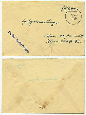 32062 - Feldpostbrief - 5.6.1940 nach Wien - Lw.San.Staffel Pocking