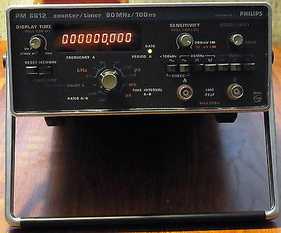 Philips 80Mhz Counter / Timer PM 6612