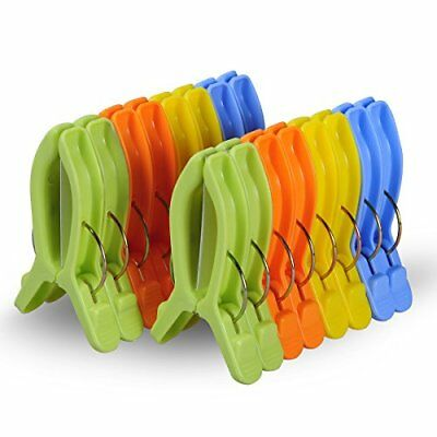 Ecrocy 16 Pack Medium Size Beach Towel Clips For Beach Chairs Or Lounge Chair Ne