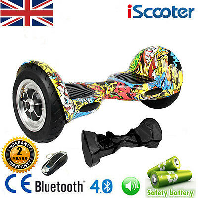 10 INCH 2 Wheel Self Balancing Board Electric Scooter iScooter +Bluetooth +Bag