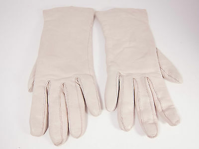Vintage 50's Ladies White Leather Gloves Size 7