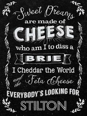 Sweet Dreams Cheese, Kitchen Cafe Diner Funny Food Retro Novelty Fridge Magnet