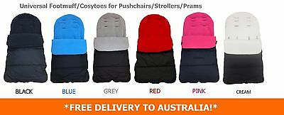 Universal Luxury Fleece Lined Pushchair/Stroller Footmuffs Cosytoes *5 Colours*