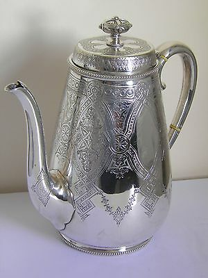 Stunning Antique Victorian Silver Plated Coffee Pot Mappin Brothers