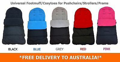 Universal Luxury Fleece Lined Pushchair/Stroller Footmuffs Cosytoes *6 Colours*