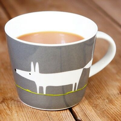 New Scion Mr Fox Charcoal & Lime Contemporary Fine China Personalised Gift Mug