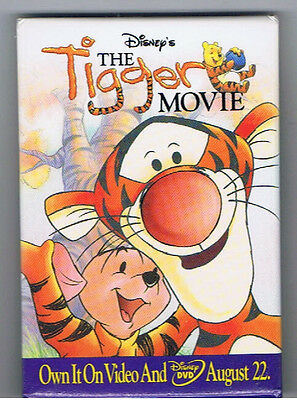 Winnie the Pooh Tigger Movie Pinback Button Disney Advertising Honey Piglet Film