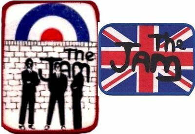 THE JAM x 2 Vintage Sew on Printed  Patches  PAUL WELLER