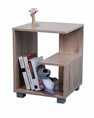 Modern Sonoma Light Oak Side End Table Coffee Telephone Square Lamp Snack Stand