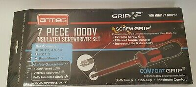 Armeg Gripx2 Screwdriver Set 7 Piece Vde Insulated