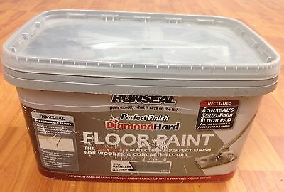 Ronseal Perfect Finish Slate Satin Floor Paint 2.5L new