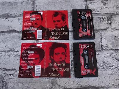 THE CLASH - Story Of The Clash Vol 1/ Double Cassette Album Tape / Best Of /3725