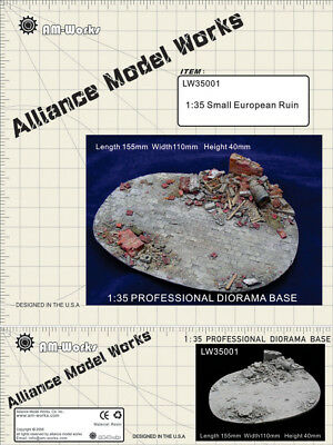 Alliance Model Works 1:35 Small European Ruin Resin Diorama Base #LW35001