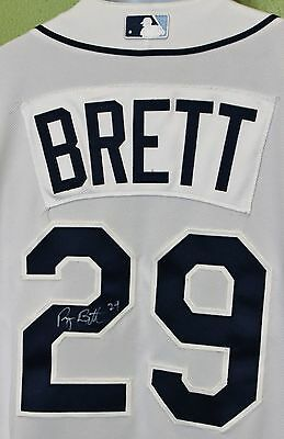 Ryan Brett #29 sz 48 Autographed Tampa Bay Rays Player Appearance Jersey