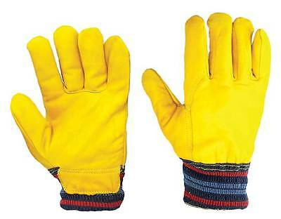 1 - 20 Pairs Fleece Lined Leather Gloves Click 2000 Cold Work Safety Gloves