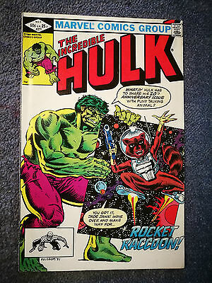 The Incredible Hulk 271 - 1st Rocket Raccoon  - Marvel Comics - 1982