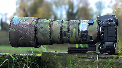 Sigma 150 600mm Sport Protective Neoprene lens cover Woodland Green Camo/Black