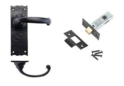 6 Sets Traditional Black Antique (Latch Set) + 1 (Bathroom Set)