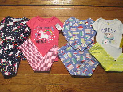 8 piece LOT of girl spring/summer pajamas size 2T NWT