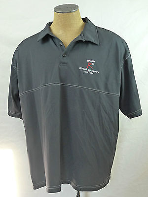 Rush 30 Anniversary 2004 Rock Short Sleeve Polo Vtg Shirt Black XXXL 3XL