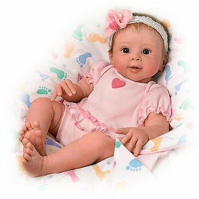 Ashton Drake - ELLA Realistic Touch-Activated Baby Doll by Sherry Rawn -LAST ONE