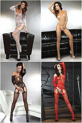 LIVCO CORSETTI Adiva Luxury Super Soft Decorative Long Sleeved Bodystocking