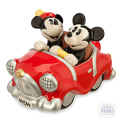 Disney Parks Mickey and Minnie Mouse Retro Salt and Pepper Shaker Set Car