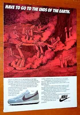 Sweet 1983 Nike Running Shoes Classic Ad - Retro Sneakers 80S American