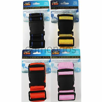 2 Meter XL Luggage Strap 'Fits All Cases' - Choice of 4 Assorted Colours