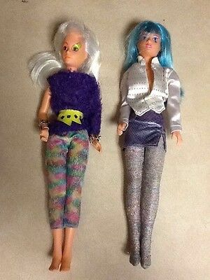 Lot of 2 - 1986 Jem and the Holograms - Dolls