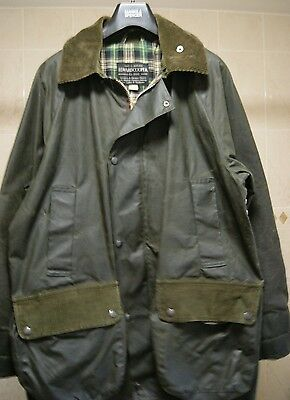 Mens Waxed Jacket Green Made By Edward Cooper Of Chester Saddle Makers Medium