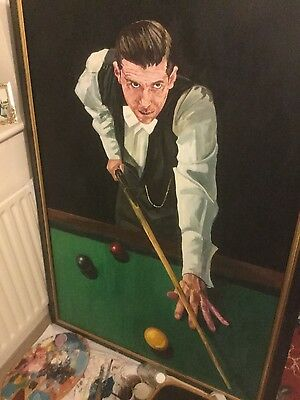life size oil painting of mark selby ( snooker)
