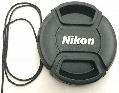 52Mm 58Mm 62Mm 67Mm 72Mm 77Mm Nikon Snap-On Centre Pinch Front Lens Cap Cover