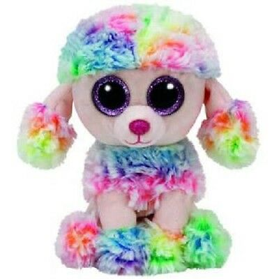 Beanie Boos TY Soft Toy - Standard 15cm Size - Rainbow The Multicoloured Poodle