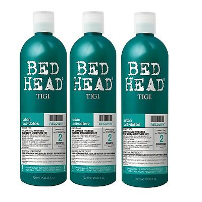 Tigi Bed Head Recovery Shampoo 2x 750ml + Conditioner 1x 750ml