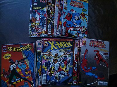 Lot de 26 Comics VF Marvel X-Men Spiderman Classic