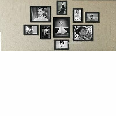 9 Pcs Wooden Multi Photo Frame Wall Hang Frames Set Collage in Many Colours
