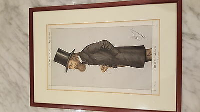 Antique Vanity Fair print july 22 1871 men of the day no28 collectable Tennyson