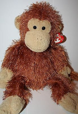 Ty Punkies collection Zig-Zag the brown monkey TyTips chimpanzee zigzag