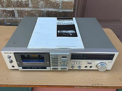 Vintage Technics RS-M258R Stereo Cassette Tape Deck - 120/240V - Original Manual