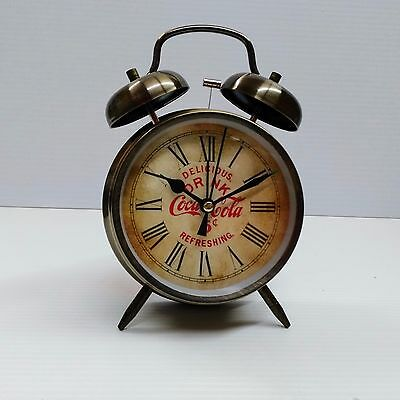 Coca-Cola Twin Bell Alarm Clock (Vintage Look) - BRAND NEW