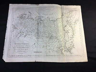 ANTIQUE MAP OF RUSSIAN EMPIRE ca 1770