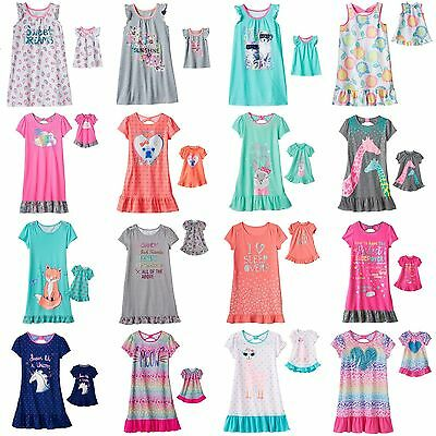 "NWT Toddler Girls 4-14 18"" Doll Matching Nightgown Pajamas Dollie Me American SO"