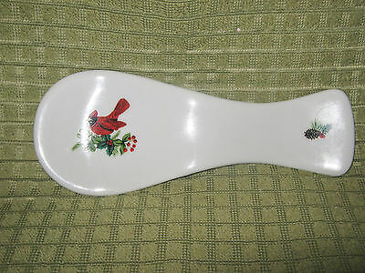 Royal Norfolk Red Cardinal Holiday Spoon Rest